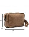 V246 - Men's Jacket of Genuine Distressed Dark Brown Leather - 8