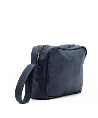 V246 - Men's Jacket of Genuine Distressed Dark Brown Leather - 9