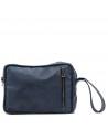 V246 - Men's Jacket of Genuine Distressed Dark Brown Leather - 10