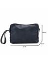 V246 - Men's Jacket of Genuine Distressed Dark Brown Leather - 11