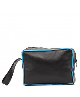 V248 - Men's Jacket of Genuine Aged Dark Brown Leather - 1