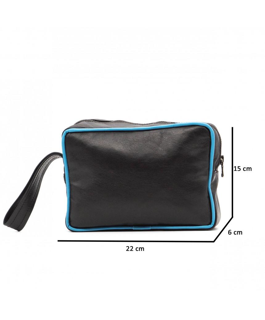 V248 - Men's Jacket of Genuine Aged Dark Brown Leather - 3