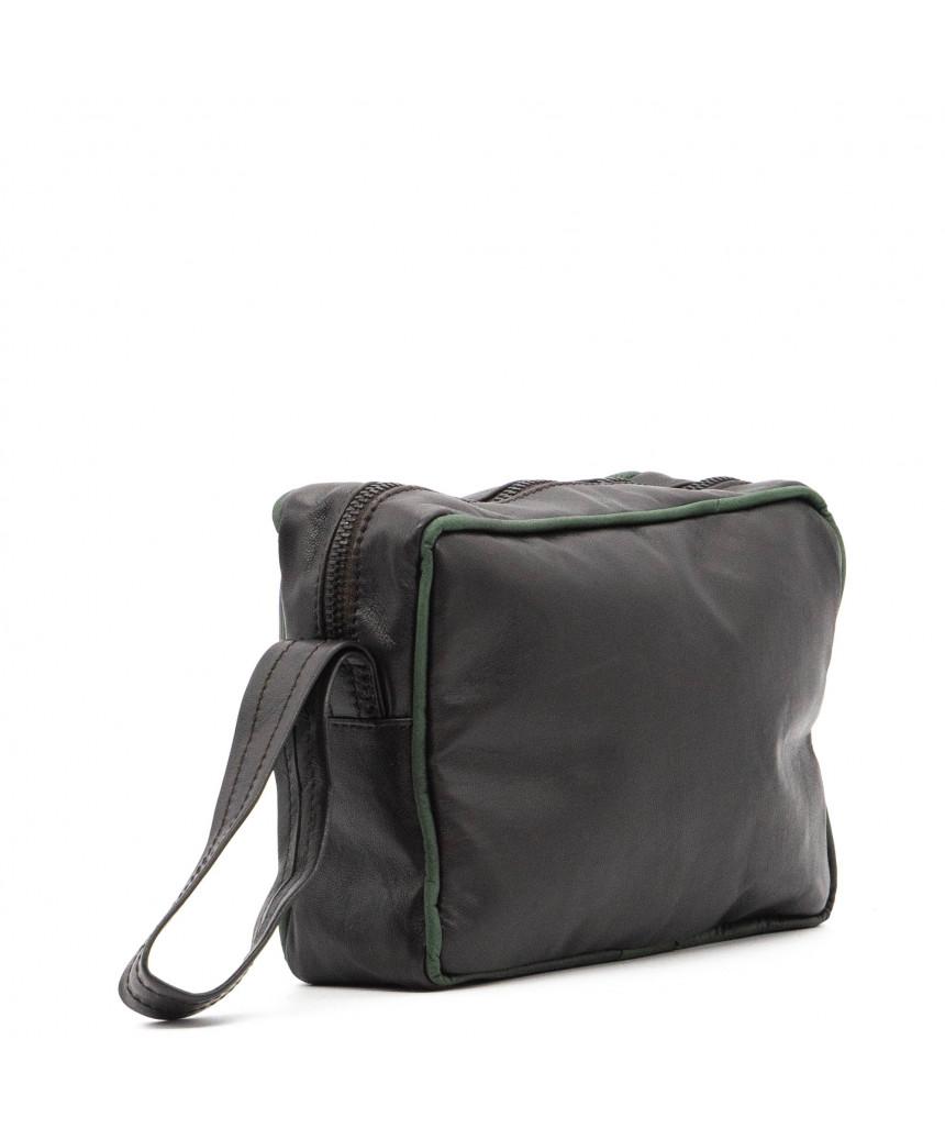 V248 - Men's Jacket of Genuine Aged Dark Brown Leather - 4