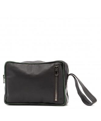 V248 - Men's Jacket of Genuine Aged Dark Brown Leather - 6