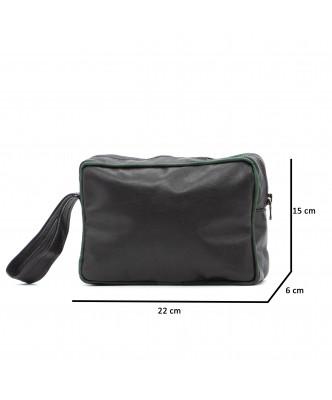 V248 - Men's Jacket of Genuine Aged Dark Brown Leather - 7