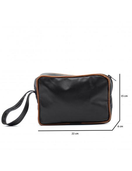 V248 - Men Jacket of Genuine Black Leather - 1