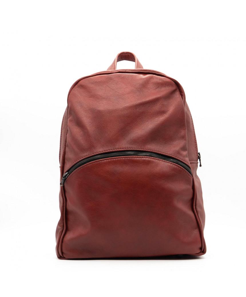 Violetta - Women Jacket of Genuine Aged Green Leather - 2