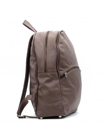 Zara - Giacca Donna in Vera Pelle colore Fango Invecchiato - 5