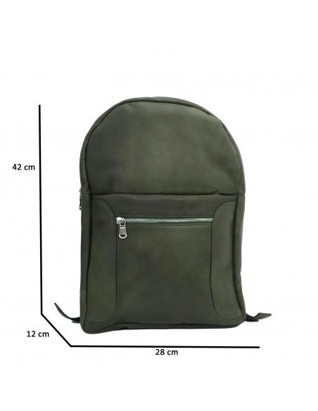 Zara - Giacca Donna in Vera Pelle colore Verde Invecchiato - 2