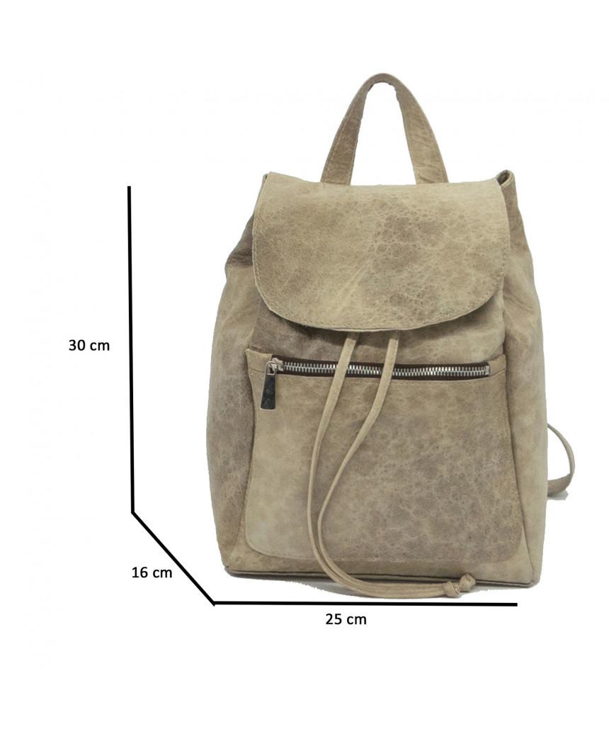 Attila - Men Leather Jacket in Dark Brown Oil Vintage