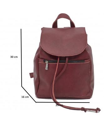 Attila - Men Jacket of Genuine Dark Brown Oil Vintage Leather - 4