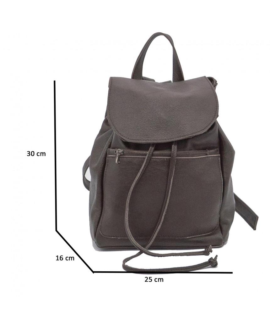 Attila - Men Jacket of Genuine Dark Brown Oil Vintage Leather - 5