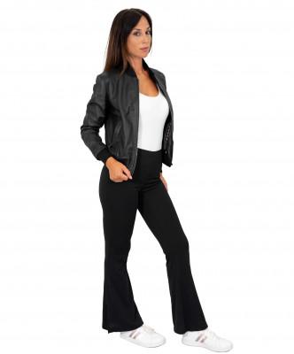 Bomber Napoli - Men's Jacket of Genuine Black Soft Leather - 1