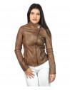 Schott - Men's Jacket of Genuine Aged Dark Brown Leather - 2