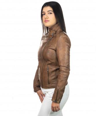 Schott - Men's Jacket of Genuine Aged Dark Brown Leather - 3