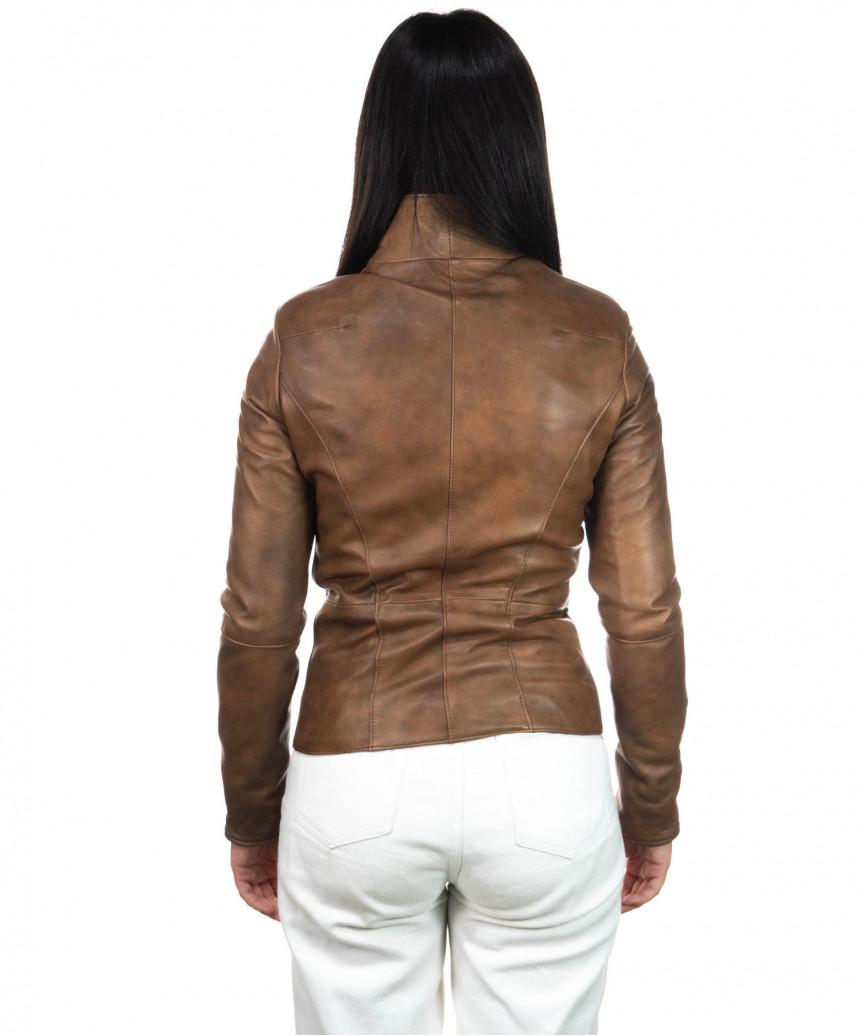 Schott - Men's Jacket of Genuine Aged Dark Brown Leather - 4