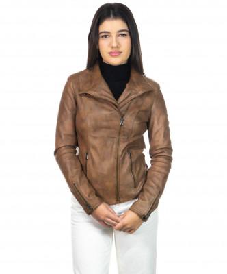 Schott - Men's Jacket of Genuine Aged Dark Brown Leather - 5
