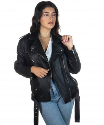 U04 - Men Jacket of Genuine Aged Bordeaux Leather - 1