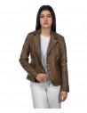 U05 - Men's Jacket of Genuine Blue Oil Vintage Leather - 4