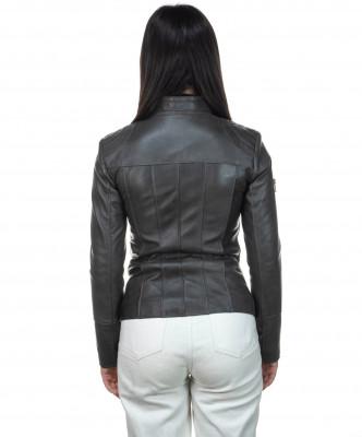V248 - Men Jacket of Genuine Dark Brown Oil Vintage Leather - 2