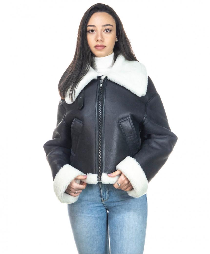 Chiodo Uomo - Men Jacket of Genuine soft Aged Black Leather - 1