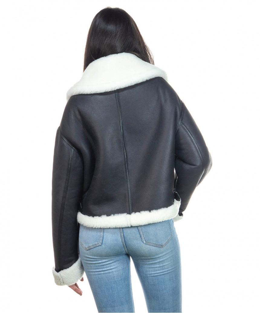Chiodo Uomo - Men Jacket of Genuine soft Aged Black Leather - 2