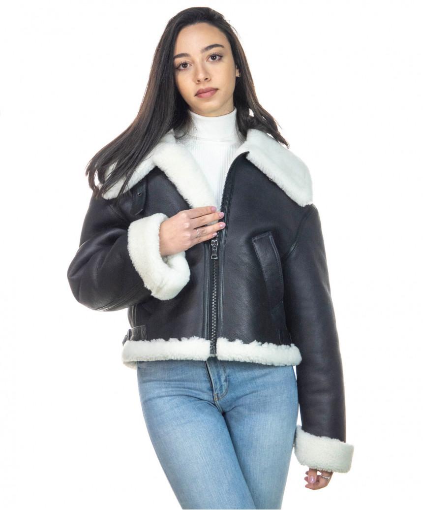 Chiodo Uomo - Men Jacket of Genuine soft Aged Black Leather - 3