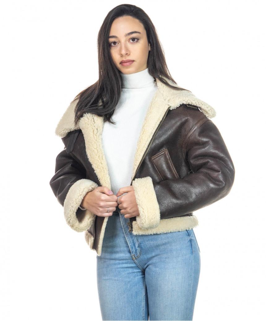 Chiodo Uomo - Men Jacket of Genuine soft Aged Black Leather - 4