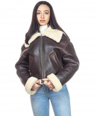 Chiodo Uomo - Men Jacket of Genuine soft Aged Black Leather - 5
