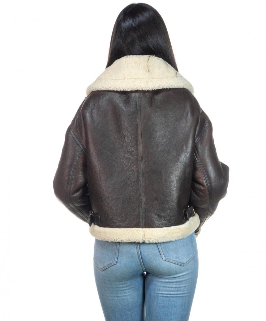 Chiodo Uomo - Men Jacket of Genuine soft Aged Black Leather - 6