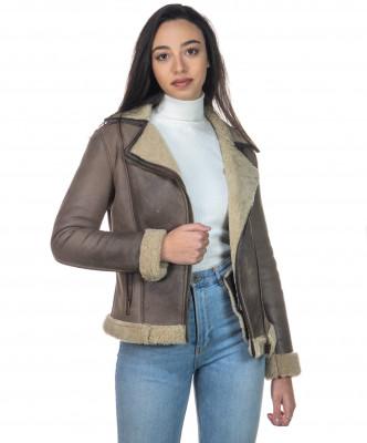 Chiodo Men - Jacket of Soft Dark Brown Oil Vintage Leather - 7