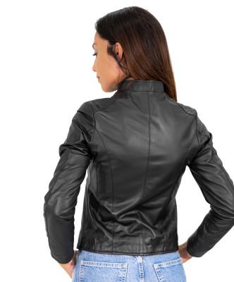 U04 - Men's Genuine Dark Brown Leather Jacket Oil Vintage - 5