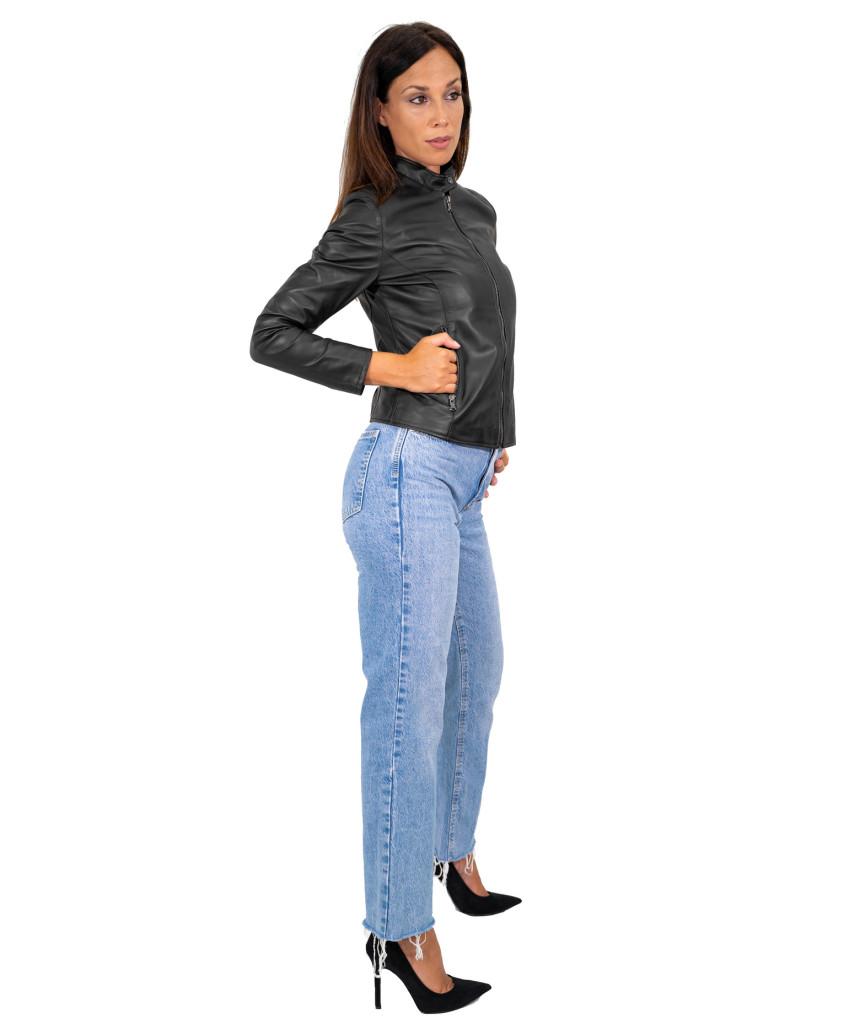U04 - Men's Genuine Dark Brown Leather Jacket Oil Vintage - 7