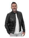 U08 - Giacca Uomo in Vera Pelle colore Cuoio Invecchiato - 8