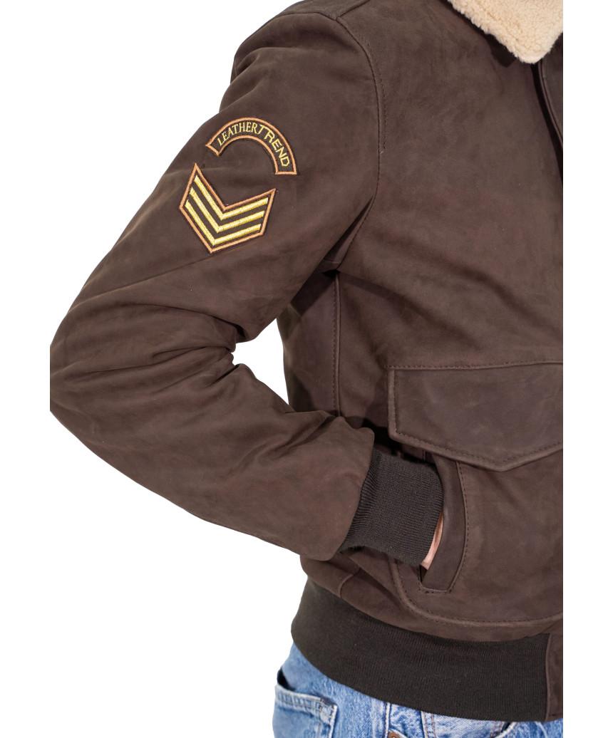 copy of U08 - Men's Jacket in Genuine Leather Oil Mud Vintage Color