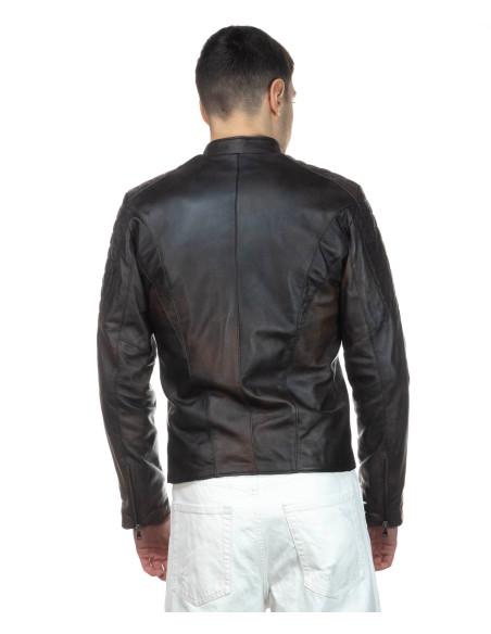 Attila - Men Jacket of Genuine Aged Gray Leather - 1