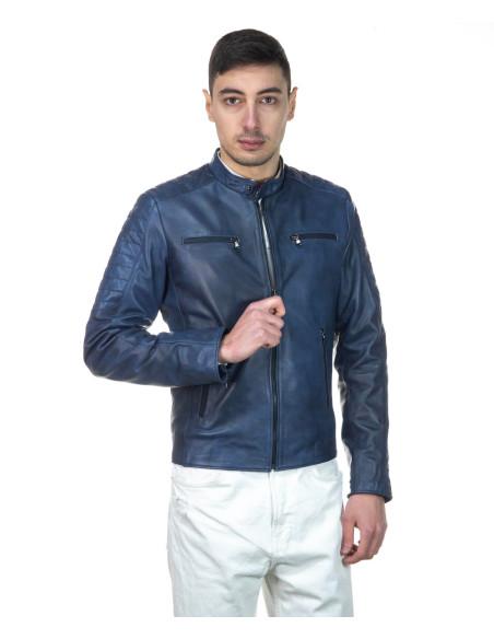Attila - Men Jacket of Genuine Aged Green Leather - 1