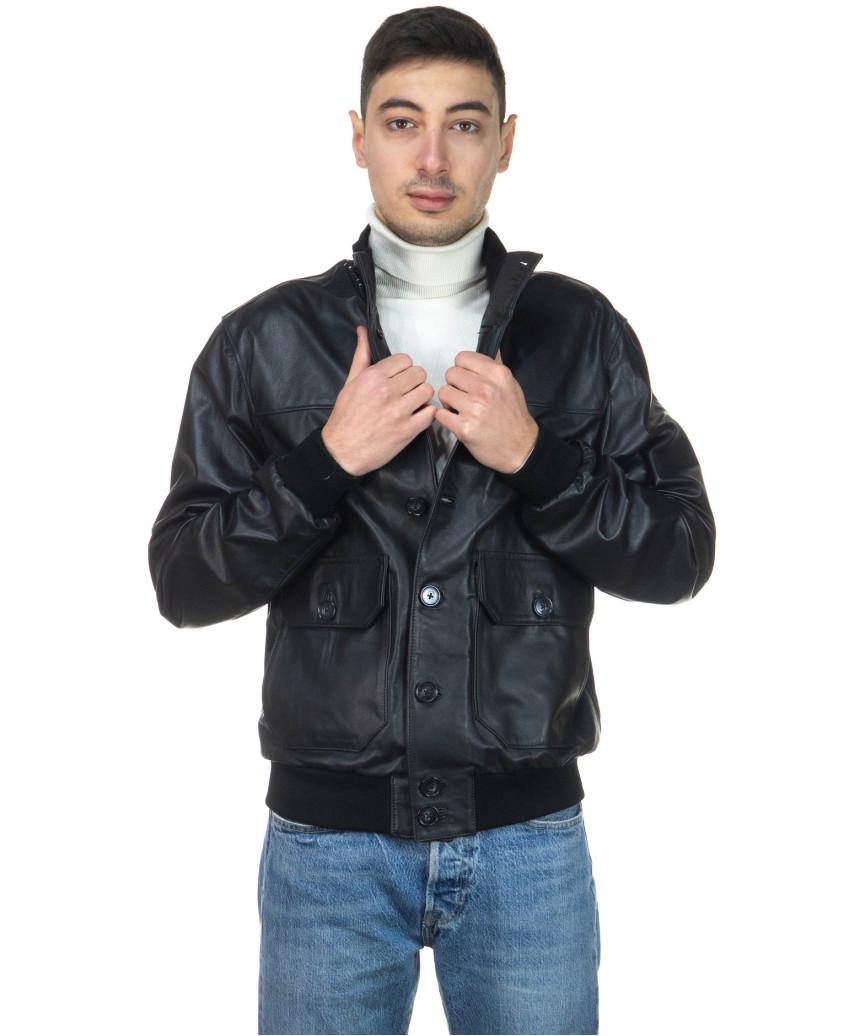 Avatar - Men's Jacket of Genuine Aged Mud Leather - 4