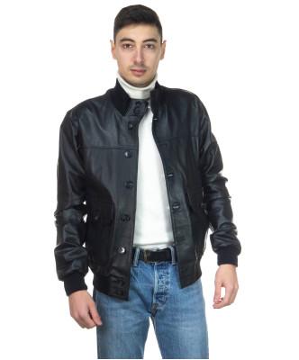 Avatar - Men's Jacket of Genuine Aged Mud Leather - 5