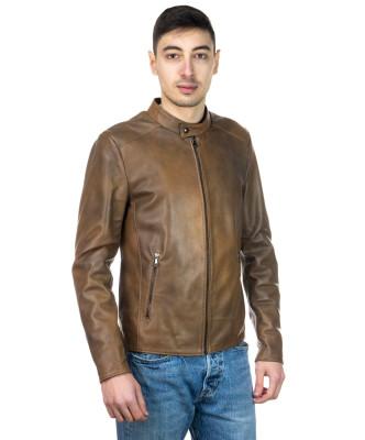 Frank - Men Jacket of Genuine Black Leather - 1