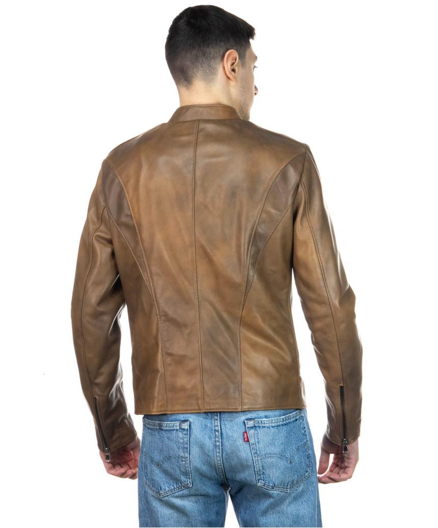 Frank - Giacca Uomo in Vera Pelle colore Nero Morbida - 3