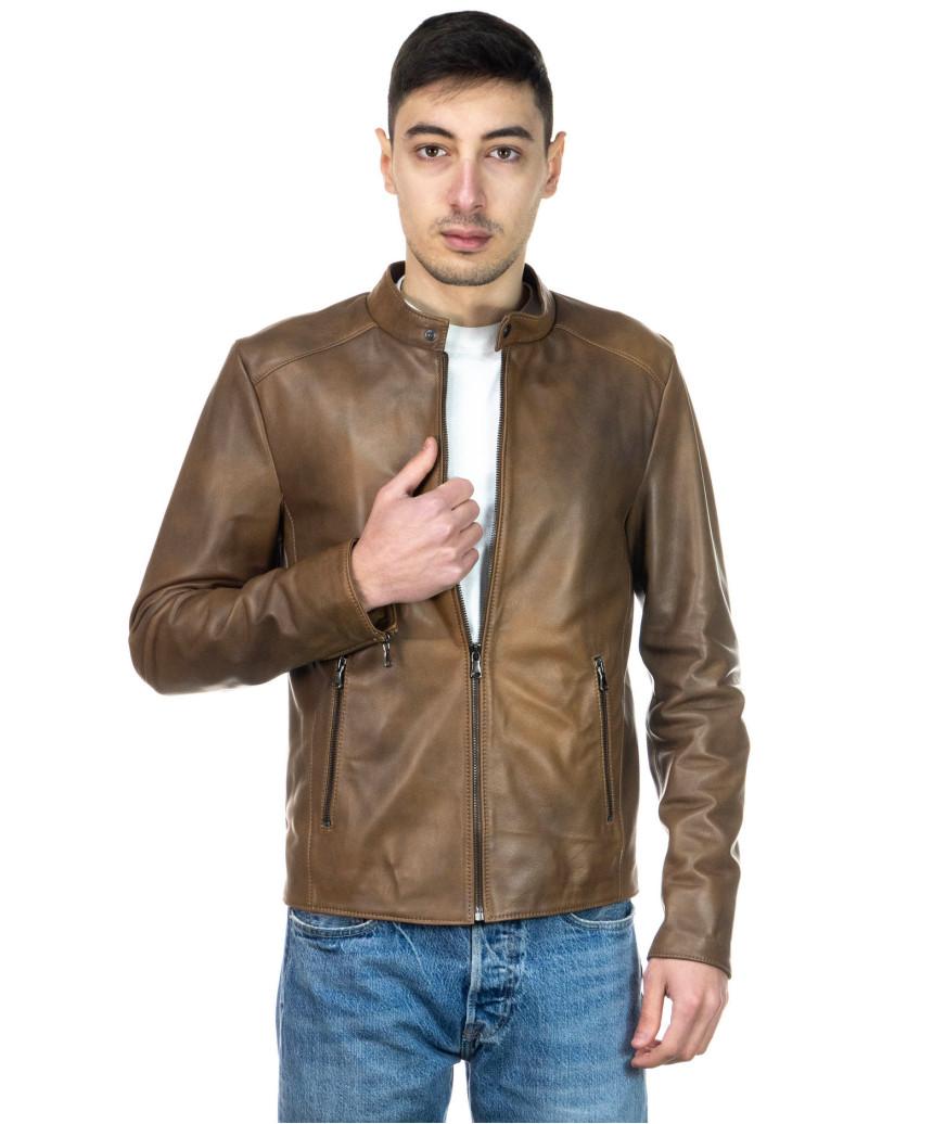 Frank - Men Jacket of Genuine Black Leather - 4