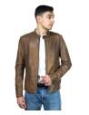 Frank - Men Jacket of Genuine Black Leather - 5
