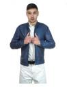 Avatar - Men's Jacket of Genuine Dark Brown Oil Vintage Leather - 3