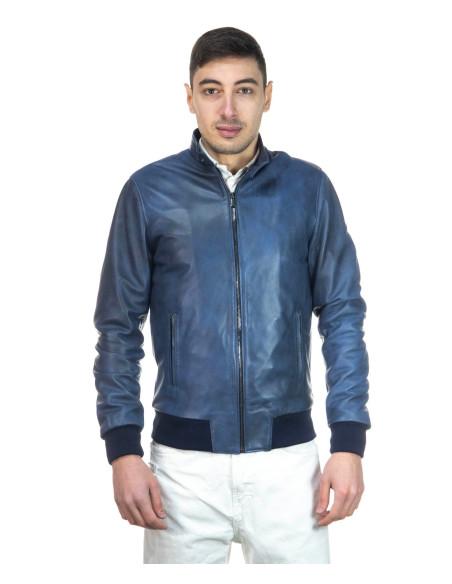 Biker Men - Black Soft Genuine Leather Jacket - 1