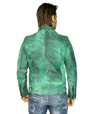 Schott Men - Jacket of Genuine Soft Black Leather - 1