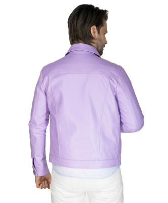 Bomber Napoli - Men's Jacket of Genuine Aged Green Soft Leather - 5