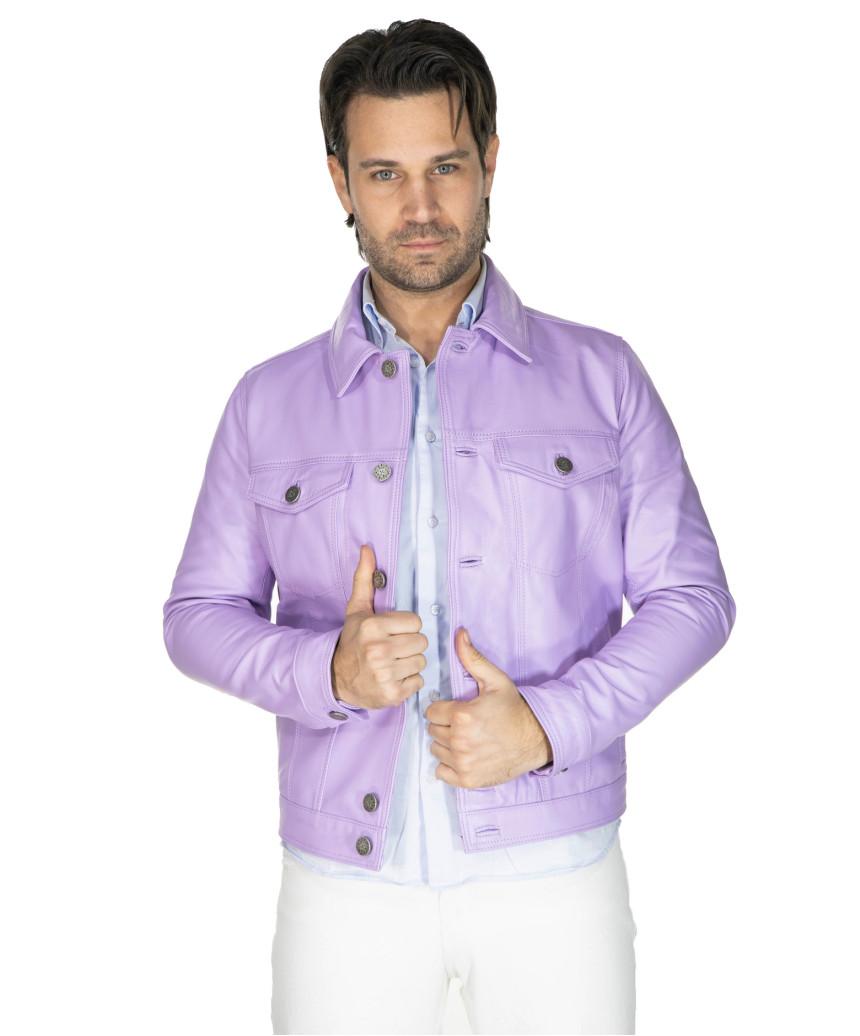 Bomber Napoli - Men's Jacket of Genuine Aged Green Soft Leather - 6