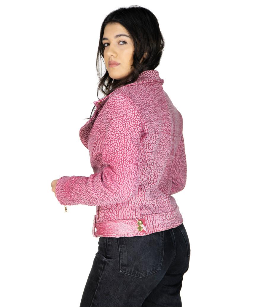 U06 - Men's Genuine Leather Jacket in Aged Brown - 2
