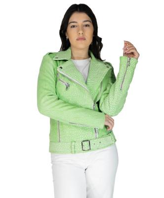 U06 - Men's Genuine Leather Jacket in Aged Brown - 6